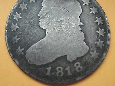 1818 Capped Bust Quarter- Rare Type Coin!