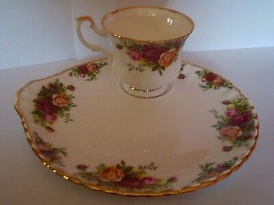 Rare Royal Albert Old Country Roses Tennis Set Large Plate Version