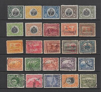 Haiti 1915 - 1924 collection , 25 stamps.