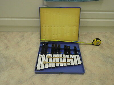 20 Note Cased Chromatic Zylophone Glockenspiel with Mallets