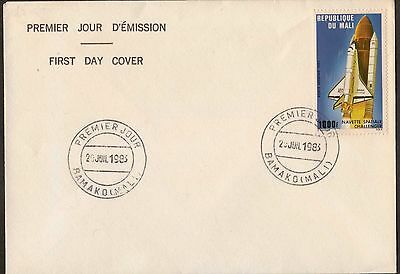 Mali:1983:1000f USA Space Shuttle in Flight,Challenger,On FDC.