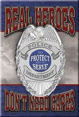 Polizei Magnet Magnetschild aus USA  - Real Heroes Protect and Serve