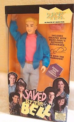 Vintage Saved By The Bell Zack Doll New In Box 1990 Made By Tiger Toys Rare