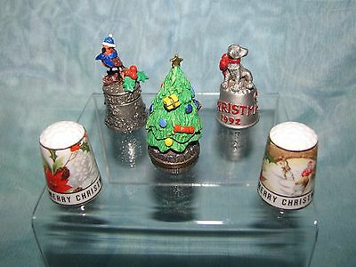 A Collection of Christmas thimbles.