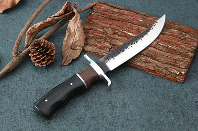 "11.4"" Survival Bowie Hunting Knife Fixed Edge Scimitar Handmade Forged 578"
