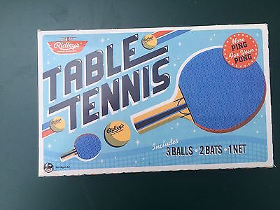 Ridley's House Of Novelties Table Tennis More Ping For Your Pong