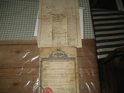 1926 Orig U.S.Patent & Drawing William Barber Saw & Grinding Attachment Tractors