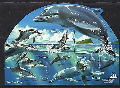Samoa:2005:Dolphines,Pacific World Stamp Expo,M/S,MNH.