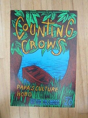 COUNTING CROWS Fillmore 1994 Concert Poster