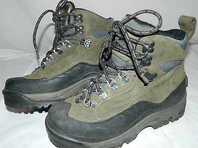 VASQUE Waterproof Insulated Green Leather Hiking Snow Winter Boots Womens Size 9