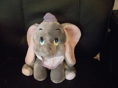 Vintage Dumbo Soft Toy  Purple Lilac  Hat Approx 10 Inch Tall