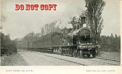6G405 NOT RP 1910s? SOUTH EASTERN & CHATHAM RAILWAY BOAT TRAIN LOCO #12 UK