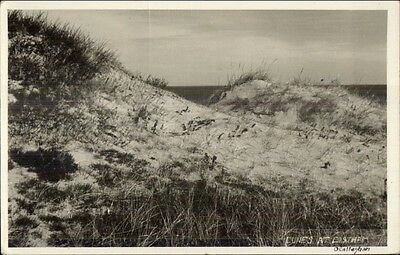 Sand Dunes at Eastham Cape Cod MA Real Photo Postcard