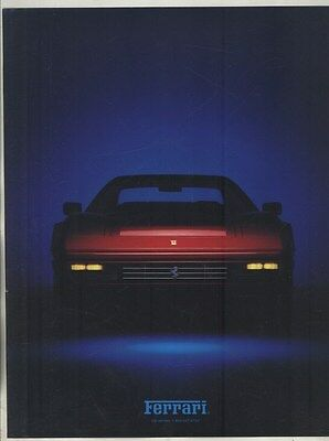 1986 Ferrari 328GTB US Brochure ww4100