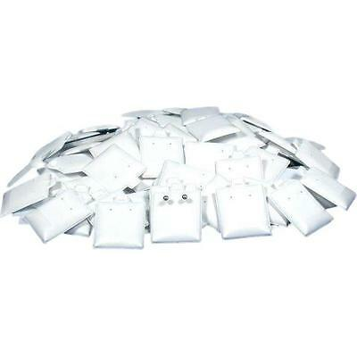100 Earring White Puff Card Jewelry Case Display Pads