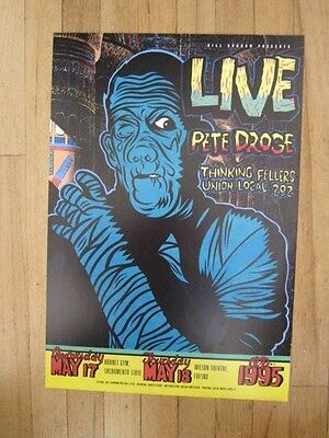 LIVE Pete Droge Fillmore poster Chuck Sperry