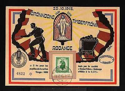 10933-LUXEMBOURG-limite edition CARD RODANGE.Pro PRISONERS DEPORTEDS.1945.WWII