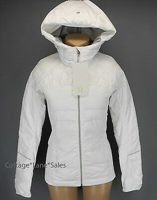 NEW LULULEMON Down For A Run Jacket 4 6 8 10 12 White 800 Fill Goose Down NWT