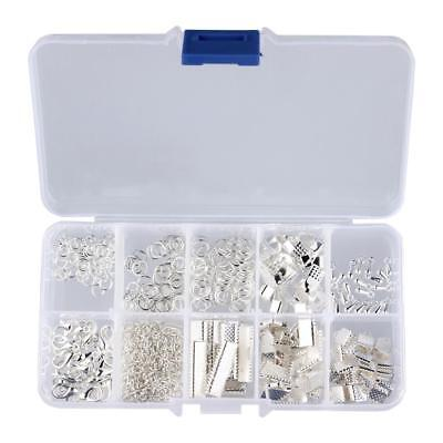 Jewelry Making Starter Kit Set Earring Bracelet Necklace Findings Silver