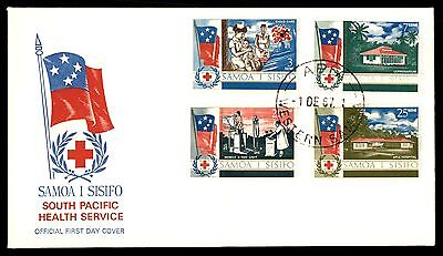 Samoa 1967 red Cross Health Service FDC Unsealed Unaddressed VF