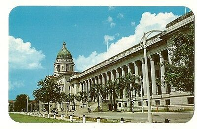 Singapore - a photographic postcard of the Municipal Buildings, Supreme Court