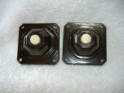 Vintage Lot 2 Rodale No. 301 Bakelite Push Button Buzzer Door Bell Switches NOS
