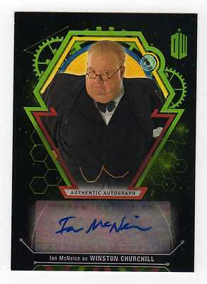 Doctor Who Extraterrestrial Encounters .. Ian McNeice Autograph Churchill #50/50