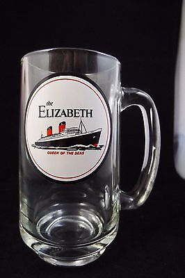 The Elizabeth Queen of the Seas Cunard White Star Limited BEER MUG, RARE.