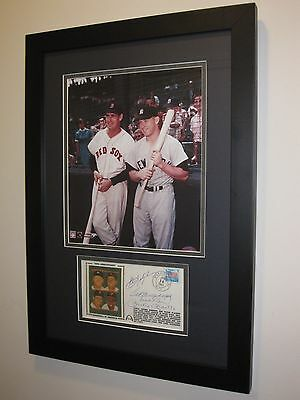 Triple Crown Multi Signed MICKEY MANTLE, WILLIAMS, ROBINSON Framed PSA/DNA LOA