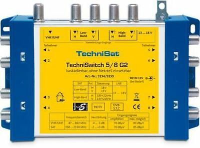 TCS 3234/3259 - TechniSat, Multi-switch 5/8 G2 DC-NT With Power Supply Unit