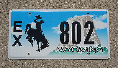 Wyoming EXEMPT Rodeo Cowboy & Horse License Plate # 802
