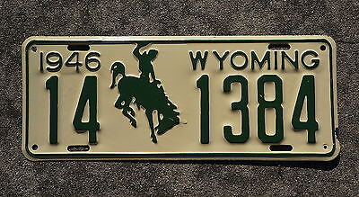 1946 Wyoming License Plate