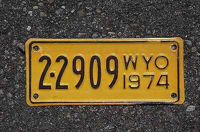 1974 Wyoming Motorcycle License Plate