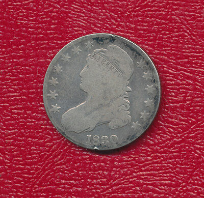 1830 Capped Bust Silver Half Dollar **a Nice Circulated Half Dollar** Free Ship!