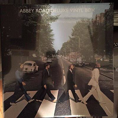 THE BEATLES Abbey Road LP DELUXE record VINYL BOX Large T-Shirt SEALED & Poster