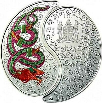 2013 Fiji Yin Jang Year of the Snake 2 coins x 16.81g Silver Set