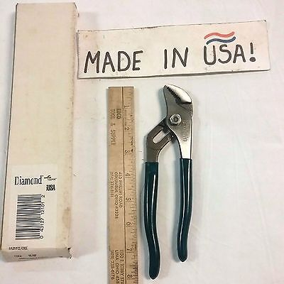 "Diamond 8"" Groove Joint Plier Cushion Grips  HL18P New Old Stock USA Vintage"