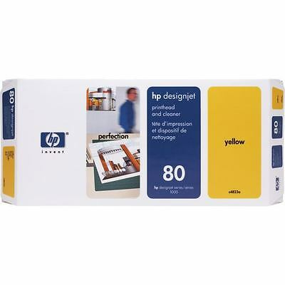 Hp C4823A - Print Head + Cleaner No 80 - Yellow
