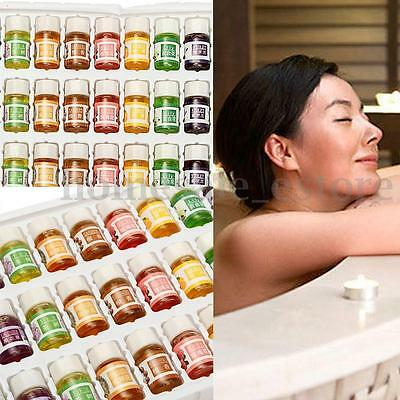 36Pcs 3ML Natural Pure Plant Herbs Aromatherapy Essential Spa Humidifier Oils