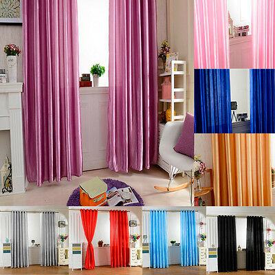 Luxury Window Blackout Ring Top Curtains Pair Of Solid Curtain Panels Door Drape