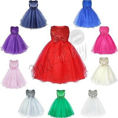 Flower Girls Princess Dress Kids Party Pageant Wedding Bridesmaid Tutu Dresses