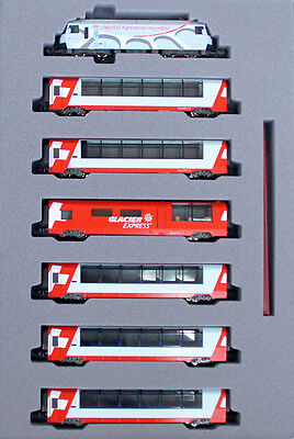 Kato 10-1219 Swiss Alps Glacier Express (UNESCO World Heritage) 7 cars (N scale)
