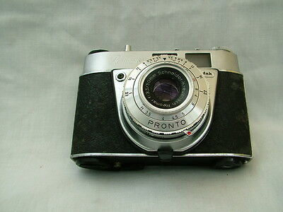 Vintage Kodak Retinette 1A Pronto camera in leather case with instruction book
