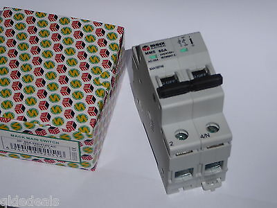 Main Switch 80A 240V Din 2 Pole Isolator Saa Approved Switchboard Industrial New
