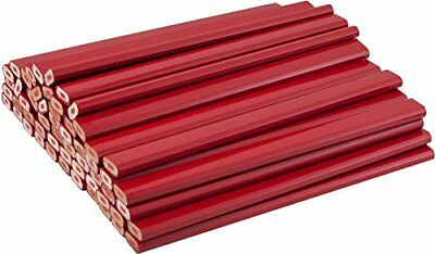 Red Carpenter Pencils with Red Lead - 72 Count Bulk Box New