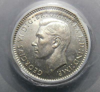 Maundy twopence 1937 proof - Encapsulated by CGS UNC92 - uncirculated 2d