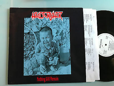Lp Italy Headcrasher - Nothing Will Remain - Rare 89 Private Italian Thrash