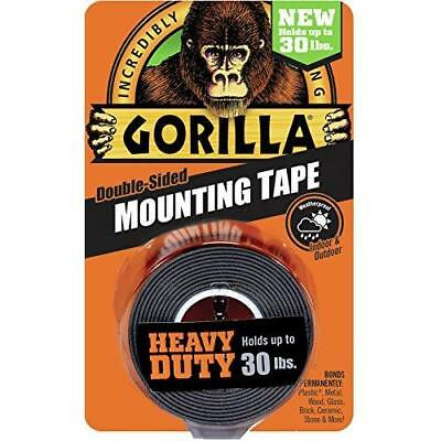 "Gorilla Heavy Duty Mounting Tape, Double-Sided, 1"" x 60"", Black New"