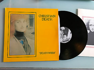 LP 1984 NM 1ST  Christian Death ‎– Deathwish  + BOOKLET