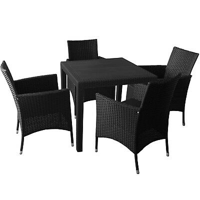rattan sitzgruppe 4st hle 1 tisch eur 100 00. Black Bedroom Furniture Sets. Home Design Ideas